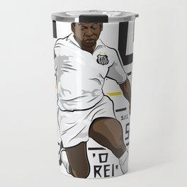 Pelé - Santos FC  Travel Mug