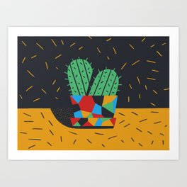Just plants, the beauty is just beauty. The Cactus Art Print
