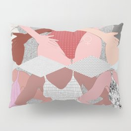 My Thighs Rub Together & I'm OK With That - Positive Body Image Digital Illustration Pillow Sham