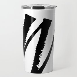 Letter W Ink Monogram Travel Mug