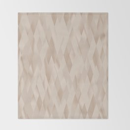 Beige Harlequin Throw Blanket