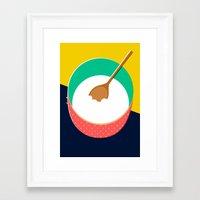 baking Framed Art Prints featuring Baking Bowl by Sam Osborne