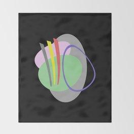 Mid Century IV - Abstract, pastel, minimalism Throw Blanket