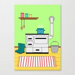 Vintage kitchen Canvas Print