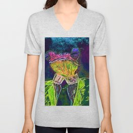 DOCTOR THEOPHILUS GREEN HIT BY A DURIAN RAY Unisex V-Neck