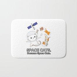 Space Cats - Spaceship Galaxy Satellite Kitten Bath Mat