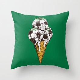 Ice Cream Soccer Balls Throw Pillow