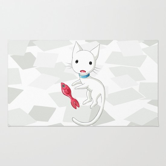 Cat and Fish Rug