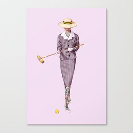 Croquet and Ink One Canvas Print