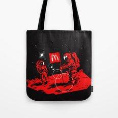 First we take Manhattan, Then we take Mars Tote Bag