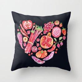 Fruit of Love - Dark Throw Pillow