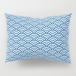 """Seigaiha"" Japanese traditional pattern Pillow Sham"
