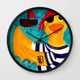 Aye Matey Wall Clock