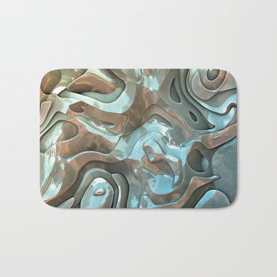 Abstract Metallic Layers  Bath Mat