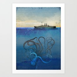 Sea Monster Art Print