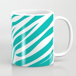 Zebra Animal Print in Teal Blue Coffee Mug