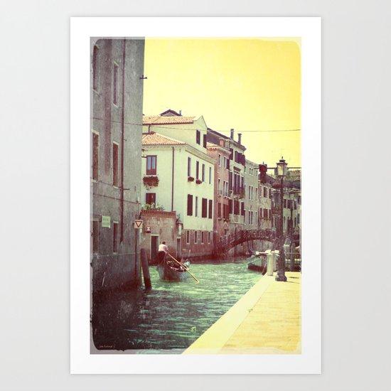 somewhere in Venice 2 Art Print