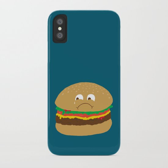 Sad Hamburger iPhone Case