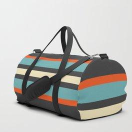 Classic Retro Stripes Amikiri Duffle Bag