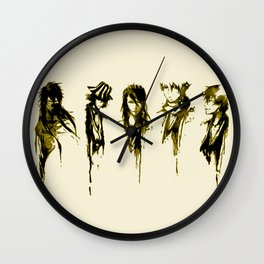 Bleach GOld Characters Wall Clock