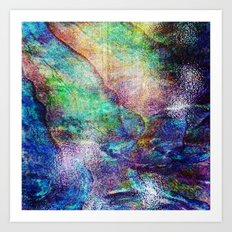 Mermaid Sea Ocean Shell Art Print