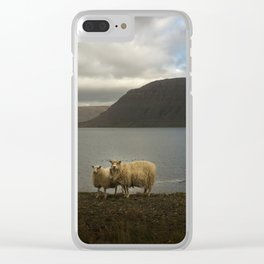 Icelandic sheeps Clear iPhone Case
