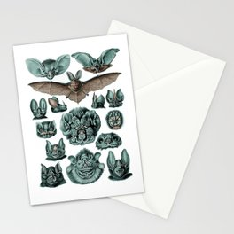 Bats in Blue by Haeckel Stationery Cards