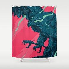 Lazer Hawk Shower Curtain