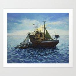 Fishing 5 Art Print