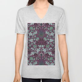 "William Morris ""Hyacinth"" 2. Unisex V-Neck"