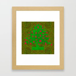 Christmas Tree Abstract Framed Art Print