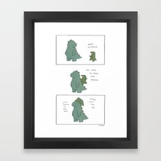 King Godzilla  Framed Art Print