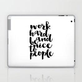 Inspirational Poster Graduation Gift Art Print Scandinavian Print Work Hard Printable Quote Art Laptop & iPad Skin