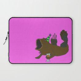 Mudskipper drinking an IPA Laptop Sleeve