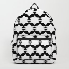Hexagram Pattern: Black & White Backpack