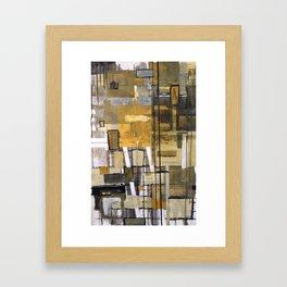Ochre Depth Rectagle Design Framed Art Print
