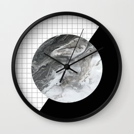 Grid and marble Wall Clock