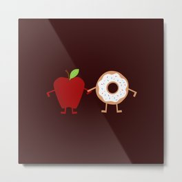 Apple Donuts Metal Print