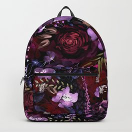 Deep Floral Chaos Backpack