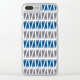 Tee Pee Lapis Blue Clear iPhone Case
