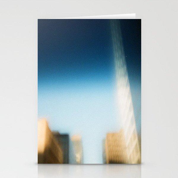 smudged skyline Stationery Cards