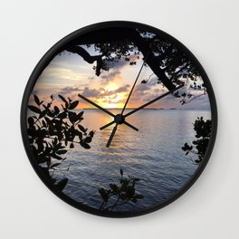 Sunset Key Largo Wall Clock