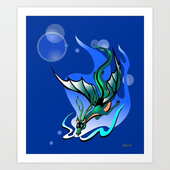 Comet Dragon Art Print