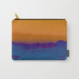 Mist and Moors- Orange & Evening Blue Carry-All Pouch