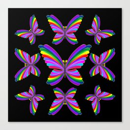 Butterfly Psychedelic Rainbow Canvas Print