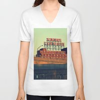montreal V-neck T-shirts featuring montreal five rose  by sylvie demers