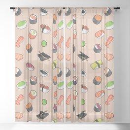 Sushi Theme Sheer Curtain
