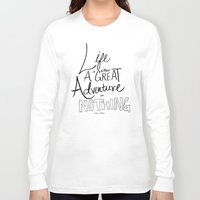 adventure Long Sleeve T-shirts featuring Great Adventure by Leah Flores