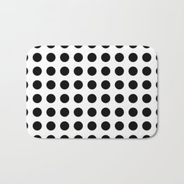 Simply Polka Dots in Midnight Black Bath Mat