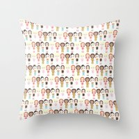 spice girls Throw Pillows featuring Spice Girls Pattern by Ricky Kwong